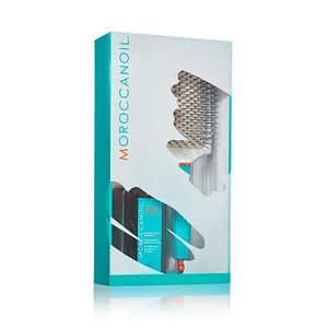 Giftset Moroccanoil Great Hair Day Oil Treament + Paddle Brush