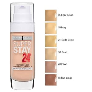 Maybelline SuperStay 24H Foundation 30ml 21 Nude