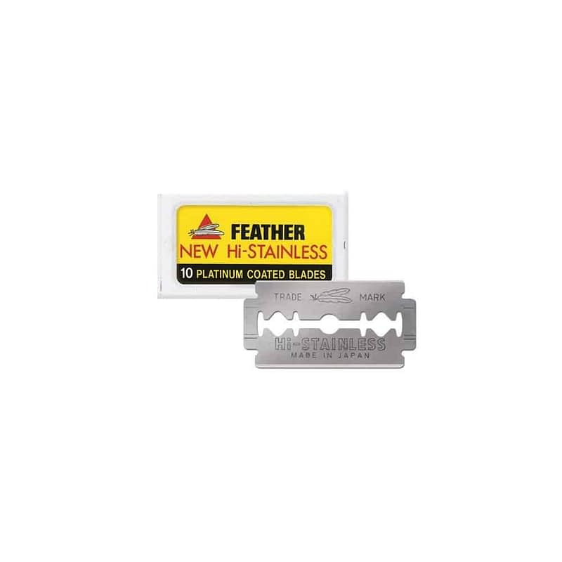 Feather New Hi-Stainless Rakblad 10-pack