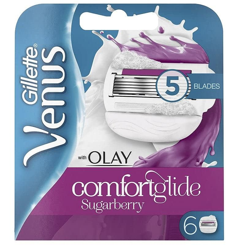 Gillette Venus with OLAY Comfortglide Sugarberry Blades 6-pack
