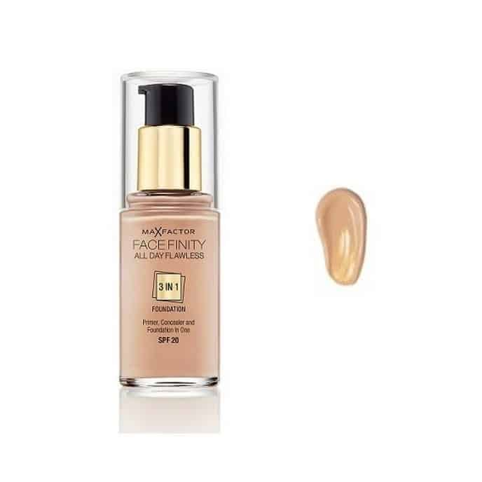 Max Factor Facefinity 3 In 1 Foundation 60 Sand