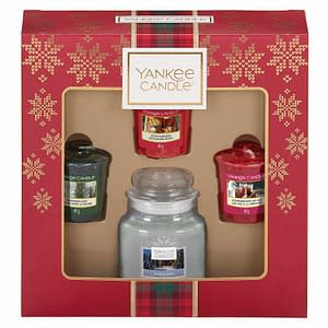 Giftset Yankee Candle 3 Votives & 1 Small Jar