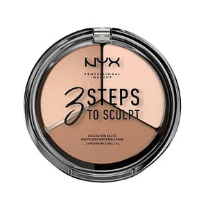 NYX PROF. MAKEUP 3 Steps To Sculpt Face Sculpting Palette - Fair