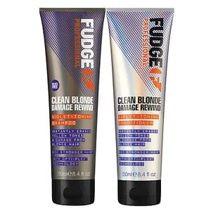 Fudge Clean Blonde Damage Rewind DUO Shampoo 300ml + Conditioner 300ml