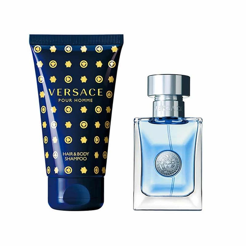 Giftset Versace Pour Homme Edt 30ml + Hair & Body Shampoo 50ml