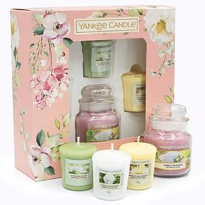 Giftset Yankee Candle Garden Hideaway 3 Votive and 1 Small Jar